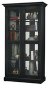 Howard Miller Lennon II Deluxe Wooden Display Cabinet In Aged Black Finish (Made in USA) - CHM4390