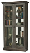 Howard Miller Lennon III Wooden Display Cabinet In Aged Auburn Finish (Made in USA) - CHM4392