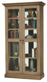 Howard Miller Lennon IV Deluxe Aged Natural Finish (Made in USA) Wooden Display Cabinet - CHM4394