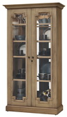 Howard Miller Chasman II Deluxe Aged Natural Finish (Made in USA) Wooden Display Cabinet - CHM4398