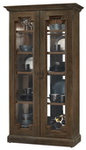 Howard Miller Chasman III Deluxe Wooden Display Cabinet Aged Umber Finish (Made in USA) - CHM4400
