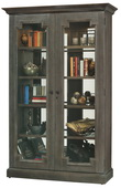 Howard Miller Desmond Deluxe Wooden Display Cabinet In Aged Auburn Finish (Made in USA) - CHM4404