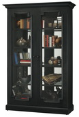 Howard Miller Desmond II Wooden Display Cabinet In Aged Black Finish (Made in USA) - CHM4406