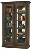 Howard Miller Desmond III Deluxe Aged Umber Finish (Made in USA) Wooden Display Cabinet - CHM4408