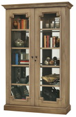 Howard Miller Desmond IV Deluxe Aged Natural Finish (Made in USA) Wooden Display Cabinet - CHM4410