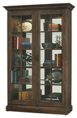 Howard Miller Clawson Deluxe Wooden Display Cabinet In Aged Umber Finish (Made in USA) - CHM4412