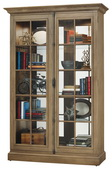 Howard Miller Clawson II Wooden Display Cabinet In Aged Natural Finish (Made in USA) - CHM4414