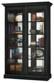 Howard Miller Clawson IV Wooden Display Cabinet In Aged Black Finish (Made in USA) - CHM4418