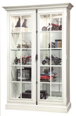 52in Wide Howard Miller CLAWSON V Wooden Display Curio Cabinet (Made in USA) - CHM4756
