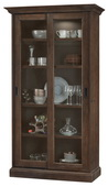 Howard Miller MEISHA Deluxe AGED UMBER  (Made in USA) Wooden Display Curio Cabinet - CHM4758
