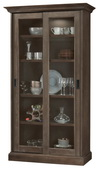 Howard Miller MEISHA III Deluxe AGED AUBURN Wooden Display Curio Cabinet (Made in USA) - CHM4762