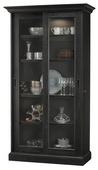 Howard Miller MEISHA IV Deluxe AGED BLACK Wooden Display Curio Cabinet (Made in USA) - CHM4764