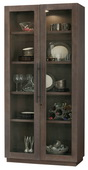 Howard Miller MORRISSEY Deluxe AGED JAVA (Made in USA) Wooden Display Cabinet - CHM4768