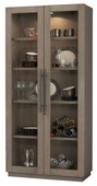 Howard Miller MORRISSEY II AGED GREY Wooden Display Curio Cabinet (Made in USA) - CHM4770