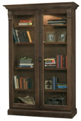 Howard Miller CHADSFORD Deluxe AGED UMBER Wooden Display Curio Cabinet (Made in USA) - CHM4772