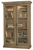 Howard Miller CHADSFORD II Deluxe AGED NATURA Wooden Display Curio Cabinet (Made in USA) - CHM4774