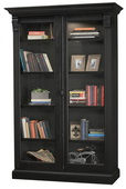 Howard Miller CHADSFORD IV Deluxe AGED BLACK Wooden Display Curio Cabinet (Made in USA) - CHM4778
