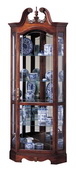 Howard Miller Windsor Cherry Swan Neck Corner Curio Cabinet (Made in USA) - CHM1490