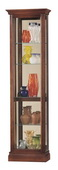 20in Wide Howard Miller CHM1814 Deluxe Windsor Cherry Profiled Molding Curio Cabinet (Made in USA)