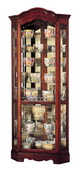Howard Miller Jamestown Deluxe Windsor Cherry Corner Curio Cabinet (Made in USA) - CHM1456