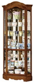 Howard Miller Oak Yorkshire Corner Curio Cabinet (Made in USA) - CHM1442
