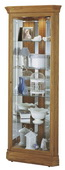 Howard Miller Golden Oak Corner Curio Cabinet (Made in USA) - CHM1780