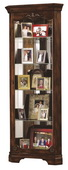 Howard Miller Hampton Cherry Corner Curio Cabinet with Decorative Overlays (Made in USA) - CHM1752