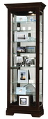 27.25in Wide Howard Miller CHM1696 Deluxe Black Coffee Eight Shelf Curio Cabinet (Made in USA)