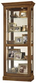 Howard Miller CHM4180 Deluxe Camden Oak Curio Cabinet (Made in USA)