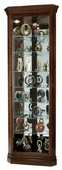 Howard Miller Cherry Bordeaux Corner Curio Cabinet with Seven Shelves (Made in USA) - CHM1744