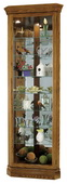 Howard Miller Legacy Oak Corner Curio Cabinet (Made in USA) - CHM1718