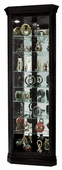 Howard Miller Duane Deluxe Black Satin Corner Curio Cabinet 7 Shelves (Made in USA) - CHM1754
