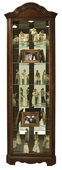 Howard Miller Cherry Bordeaux Bonnet Top Curio Cabinet (Made in USA) - CHM1690