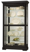 Howard Miller Tyler II Deluxe Wooden Curio Cabinet in Black Satin Finish (Made in USA) - CHM4061