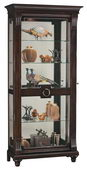 Howard Miller CHM2924 Deluxe Charleston Place Distressed Curio Cabinet (Made in USA)