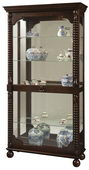 Howard Miller Handsome Heavily Distressed Tobacco Finish Curio Cabinet (Made in USA) - CHM2932
