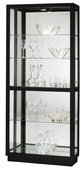 Howard Miller Hand-Rubbed Gloss Black Finish Curio Cabinet (Made in USA) - CHM4186