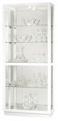 Howard Miller CHM4188 Deluxe Hand Rubbed Gloss White Finish Curio Cabinet (Made in USA)