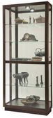 Howard Miller Espresso Finish Wooden Curio Cabinet  (Made in USA) - CHM4062