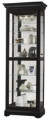 Howard Miller Black Satin Finish Wooden Curio Cabinet (Made in USA) - CHM4065