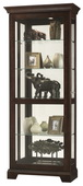 Howard Miller Espresso Finish Wooden Curio Cabinet  (Made in USA) - CHM4066