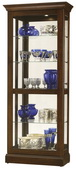 Howard Miller Berends IV Deluxe Cherry Bordeaux Wooden Curio Cabinet (Made in USA) - CHM4067