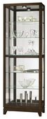 Howard Miller Luke Deluxe Sleek Espresso Finish Curio Cabinet (Made in USA) - CHM4192