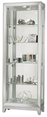Howard Miller Shayne Deluxe Silver Finish Curio Cabinet with Mirrored Frame (Made in USA) - CHM4200