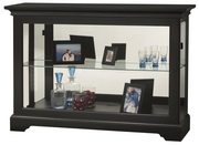 Howard Miller CHM4204 Deluxe Black Satin Finish Curio Console Cabinet (Made in USA)