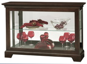 Howard Miller CHM4206 Deluxe Espresso Finish Curio Console Cabinet (Made in USA)
