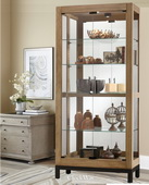 Howard Miller Quinn Curio Cabinet in Aged Natural Finish