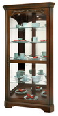 Howard Miller Tessa Deluxe Elegant Hampton Cherry Corner Curio Cabinet (Made in USA) - CHM4312