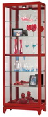 Howard Miller Luke V Deluxe Gloss Red Finish Wooden Curio Cabinet (Made in USA) - CHM4884