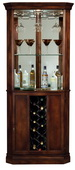Howard Miller Piedmont Wooden Wine & Bar Corner Cabinet in Rustic Cherry Finish - CHM1524